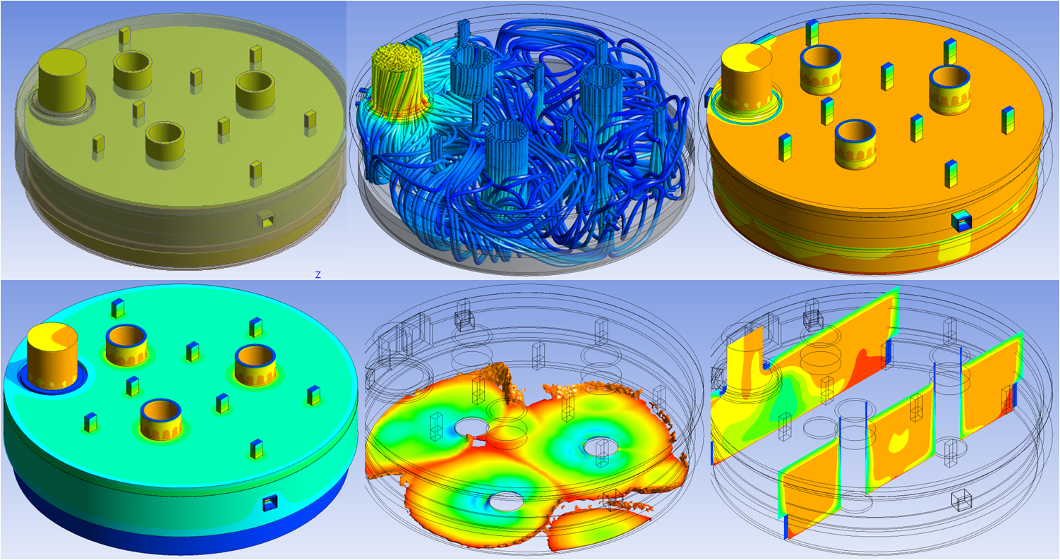 Electric slag cleaning furnace thermal design using ANSYS (Courtesy: SNC-Lavalin)