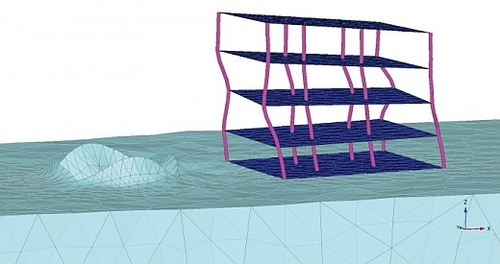 Dynamic effects on a structure due to ground movement (Courtesy: Plaxis bv)
