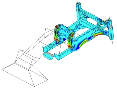 Structural analysis of earth moving vehicle chassis