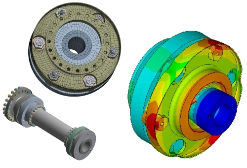 Power transmission flexible coupling simulation (Courtesy: Bibby Transmissions Group)