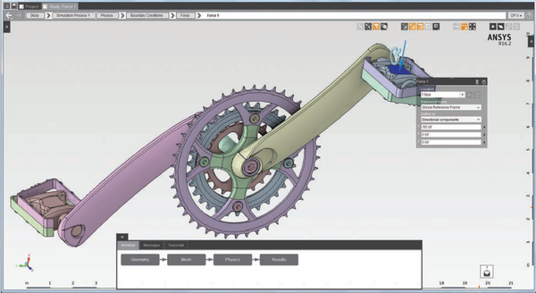 ANSYS AIM's task-based workflow guides the simulation process