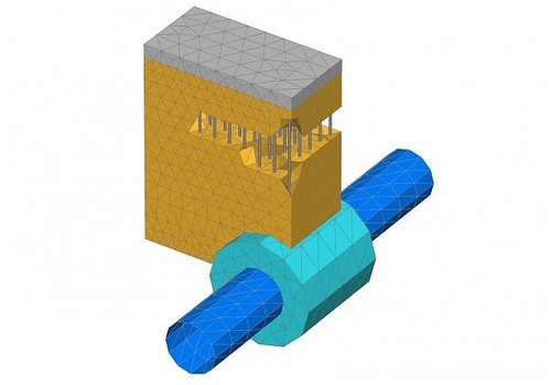 PLAXIS 3D tunnel with foundation model (Courtesy: Plaxis bv)