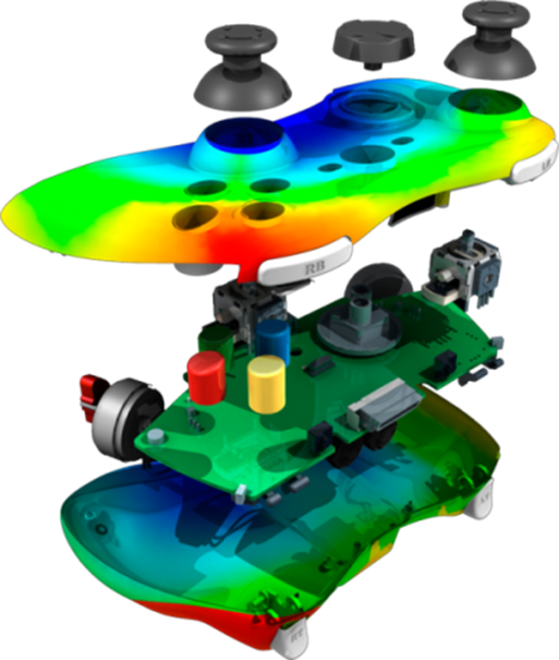 Moldflow simulation of Xbox Controller (Courtesy: Autodesk)