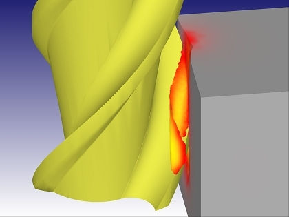 End milling simulation (Courtesy: Dormer Tools)